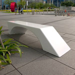 MARINA BAY BENCH CALLED ECHO (Designed By Lasalle)