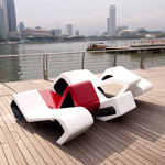 MARINA BAY BENCH CALLED TIDE ( Designed By Lasalle)